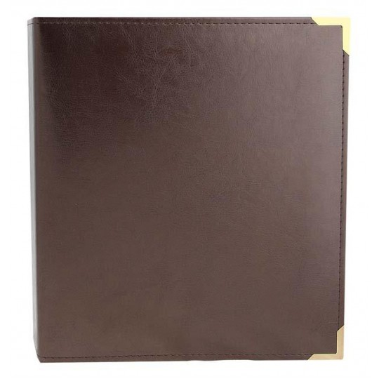 Альбом вертикальный 230х270 мм (Оптима), без листов, кожзам, с латунными уголками.