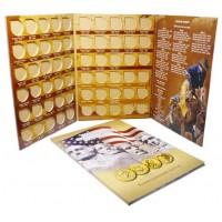 Альбом-планшет коллекционный для памятных 1-долларовых монет США. Производство Россия.