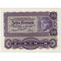 Бона 10 крон. 1922 год, Австрия.