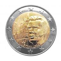 Дворец Великих герцогов. Монета 2 евро, 2007 год, Люксембург.