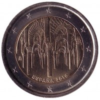 Кордоба. Монета 2 евро, 2010 год, Испания.