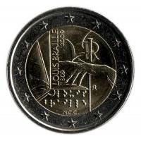 200 лет с рождения Луи Брайля. Монета 2 евро, 2009 год, Италия.