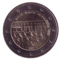 Совет большинства 1887 года. 2 евро, 2012 год, Мальта.