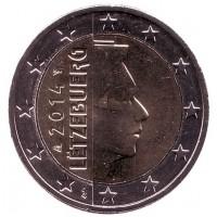 Монета 2 евро. 2014 год, Люксембург.
