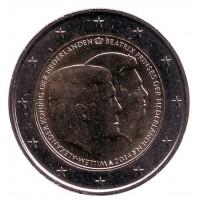Нидерланды: прощай, королева, здравствуй, король! Монета 2 евро, 2014 год, Нидерланды.