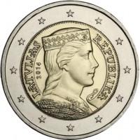 Монета 2 евро, 2014 год, Латвия.