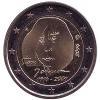 150 лет со дня рождения Туве Янссон. Монета 2 евро. 2014 год, Финляндия.