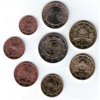 Набор монет евро (8 штук). 2009 год, Австрия.