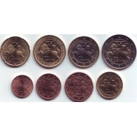 Набор монет евро (8 шт). 2015 год, Литва.