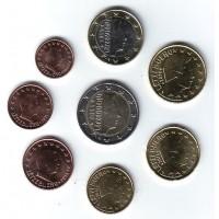 Набор монет евро (8 штук). 2014 год, Люксембург.