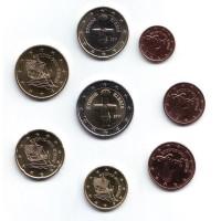 Набор монет евро (8 шт). Кипр, 2011 год.