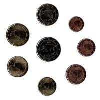 Набор монет евро (8 шт). 2011 год, Эстония.
