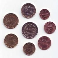 Набор монет евро (8 шт). 2008 год, Греция.
