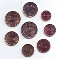 Набор монет евро (8 шт). 2009 год, Греция.