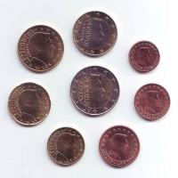 Набор монет евро (8 шт). 2007 год, Люксембург.