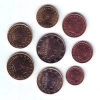 Набор монет евро (8 шт).2008 год, Люксембург
