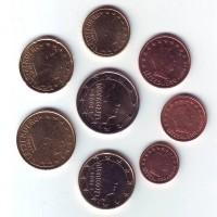 Набор монет евро (8 шт). 2009 год, Люксембург.