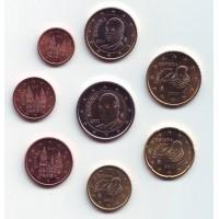 Набор монет евро (8 шт). 2011 год, Испания.