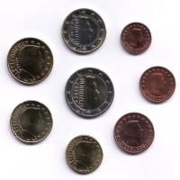 Набор монет евро (8 шт). 2012 год, Люксембург.