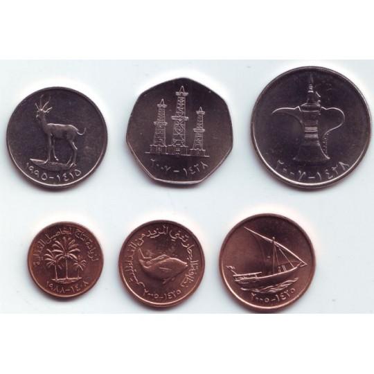 Набор монет ОАЭ (6 шт.), ОАЭ.