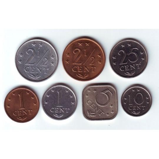 Набор монет (7 шт.) 1971-1985 гг., Нидерландские Антильские острова.