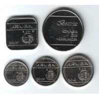 Набор монет Арубы (5 шт.), 2009-2010 гг. Аруба.