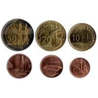 Набор современных монет Азербайджана (6 шт.). 2006 год, Азербайджан.