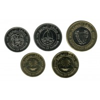 Набор монет Бахрейна (5 штук). 5-100 филсов, 2009-11 гг, Бахрейн.