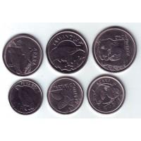 Набор монет Бразилии (6 шт.) 1992-1994 гг., Бразилия.