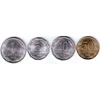Набор монет Чили (4 шт.), 1975 - 1979 гг., Чили.