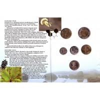 Набор монет Финляндии в буклете (5 шт., с жетоном), 1995 год, Финляндия. (Вар. II)