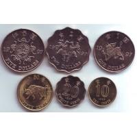 Набор монет Гонконга (6 шт.) 1997 год, Гонконг.