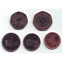 Набор монет Иордании (5 шт.). 2008-2011 гг., Иордания.