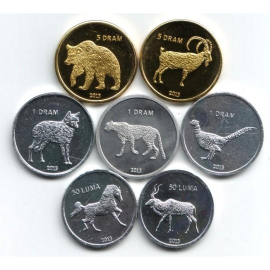 Набор монет (7 шт.), 2013 год, Нагорный Карабах.