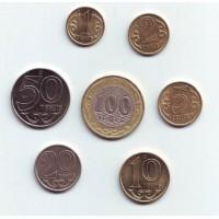 Набор монет Казахстана (7 монет), 2000-2005 гг., Казахстан.