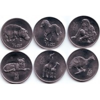 Животные. Набор монет Северной Кореи (6 шт.). 2002 год, Северная Корея.