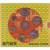 Набор монет Макао в буклете (7 шт). 1993-2010 гг., Макао.