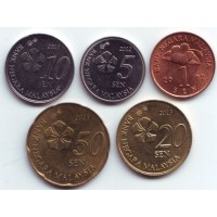 Набор монет Малайзии (5 шт.), 2001-2013 гг., Малайзия.