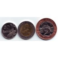 Набор монет Нигерии (3 шт.), 2006 год, Нигерия