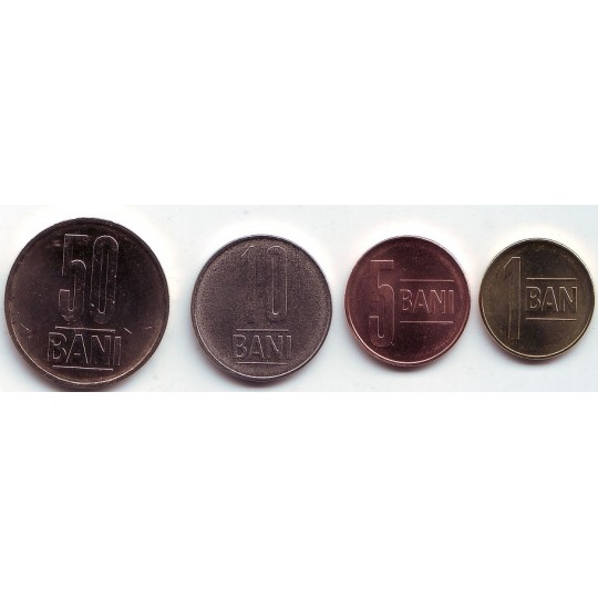 Набор монет Румынии (4 шт.), 2014 год, Румыния.