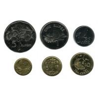 Набор монет Сейшельских островов (6 штук). 2004-12 гг., Сейшельские острова.