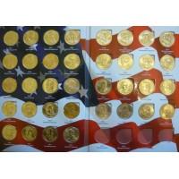 """Полный набор долларов серии """"Президенты США"""" в альбоме, unc"""