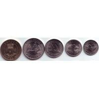 Набор монет Тонга (5 шт.), 2015 год.