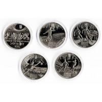 Чемпионат Европы по футболу 2012 года (Польша-Украина). Набор из 5 монет (5 гривен), 2012 год, Украина.