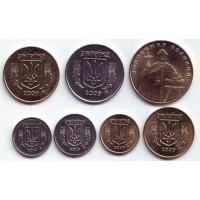 Набор монет Украины (7 шт.). 2009-2011 гг. Украина.