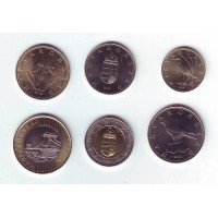 Набор монет (6 шт.), 2012 год, Венгрия.