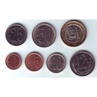 Набор монет Венесуэлы (7 штук). 2007-2009 гг, Венесуэла.