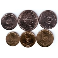 Набор монет Заира (6 шт.). 1977-88 гг, Заир.