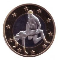 6 эросов (Sex euros). Сувенирный жетон. (Вар. 3)