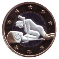 6 эросов (Sex euros). Сувенирный жетон. (Вар. 4)